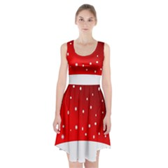 Christmas Background  Racerback Midi Dress