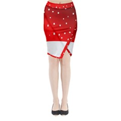 Christmas Background  Midi Wrap Pencil Skirt
