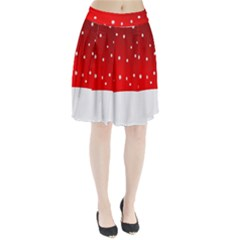 Christmas Background  Pleated Skirt