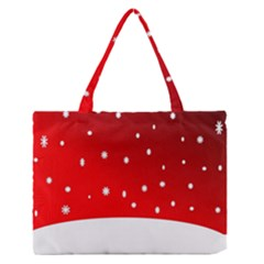 Christmas Background  Medium Zipper Tote Bag