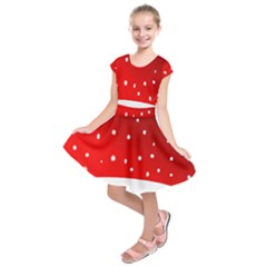 Christmas Background  Kids  Short Sleeve Dress