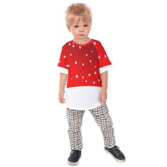 Christmas Background  Kids  Raglan Tee