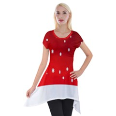 Christmas Background  Short Sleeve Side Drop Tunic