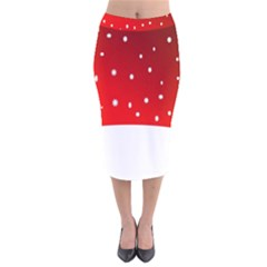 Christmas Background  Velvet Midi Pencil Skirt