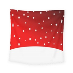 Christmas Background  Square Tapestry (small)