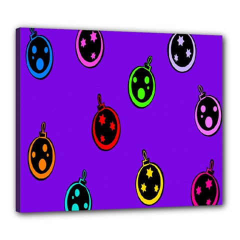 Christmas Baubles Canvas 24  x 20