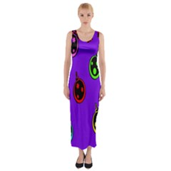 Christmas Baubles Fitted Maxi Dress