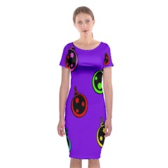 Christmas Baubles Classic Short Sleeve Midi Dress