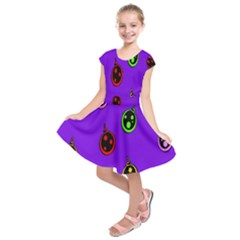Christmas Baubles Kids  Short Sleeve Dress