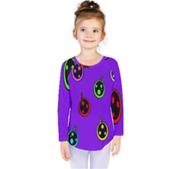 Christmas Baubles Kids  Long Sleeve Tee