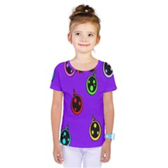 Christmas Baubles Kids  One Piece Tee