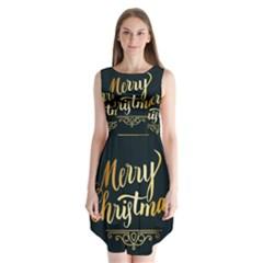 Christmas Gold Black Frame Noble Sleeveless Chiffon Dress