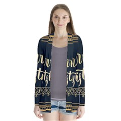 Christmas Gold Black Frame Noble Cardigans
