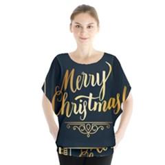 Christmas Gold Black Frame Noble Blouse
