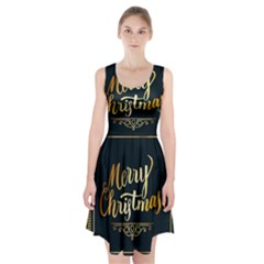 Christmas Gold Black Frame Noble Racerback Midi Dress