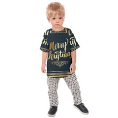 Christmas Gold Black Frame Noble Kids  Raglan Tee