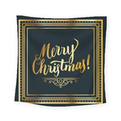 Christmas Gold Black Frame Noble Square Tapestry (small)
