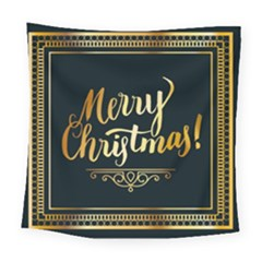 Christmas Gold Black Frame Noble Square Tapestry (large)