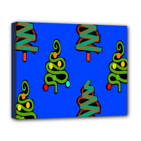 Christmas Trees Deluxe Canvas 20  x 16