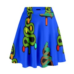 Christmas Trees High Waist Skirt
