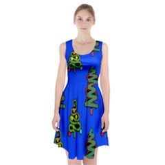 Christmas Trees Racerback Midi Dress