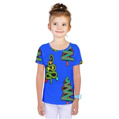 Christmas Trees Kids  One Piece Tee
