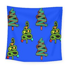 Christmas Trees Square Tapestry (large)