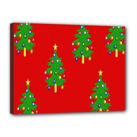 Christmas Trees Canvas 16  x 12