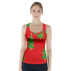 Christmas Trees Racer Back Sports Top
