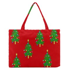 Christmas Trees Medium Zipper Tote Bag