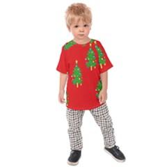 Christmas Trees Kids  Raglan Tee
