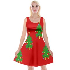 Christmas Trees Reversible Velvet Sleeveless Dress