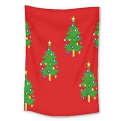 Christmas Trees Large Tapestry