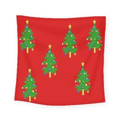 Christmas Trees Square Tapestry (small)