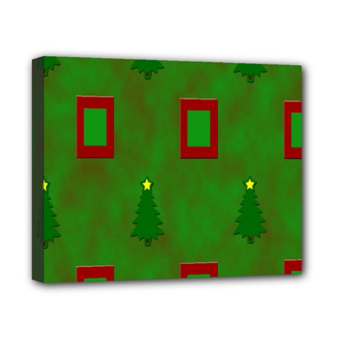 Christmas Trees And Boxes Background Canvas 10  x 8