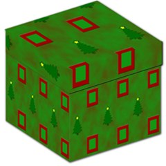Christmas Trees And Boxes Background Storage Stool 12