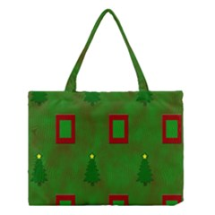 Christmas Trees And Boxes Background Medium Tote Bag