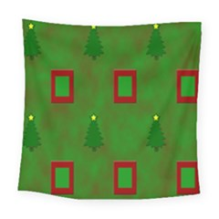Christmas Trees And Boxes Background Square Tapestry (large)