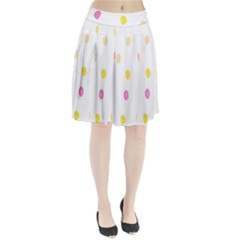 Diamond Pink Yellow Pleated Skirt