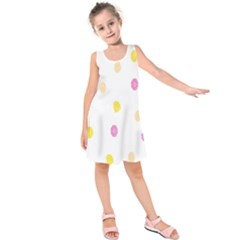 Diamond Pink Yellow Kids  Sleeveless Dress