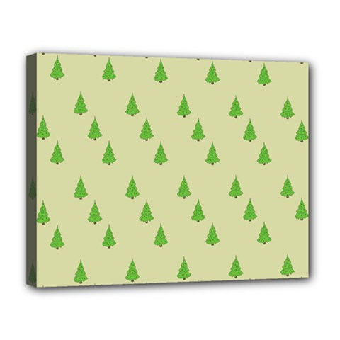 Christmas Wrapping Paper Pattern Canvas 14  x 11