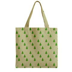 Christmas Wrapping Paper Pattern Zipper Grocery Tote Bag