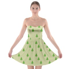 Christmas Wrapping Paper Pattern Strapless Bra Top Dress