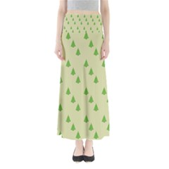 Christmas Wrapping Paper Pattern Maxi Skirts
