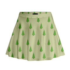 Christmas Wrapping Paper Pattern Mini Flare Skirt