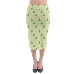 Christmas Wrapping Paper Pattern Midi Pencil Skirt