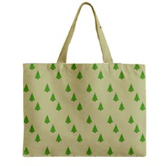 Christmas Wrapping Paper Pattern Medium Zipper Tote Bag