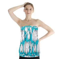 Clouds Seamless Blue Sky Strapless Top