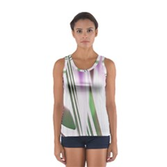 Colored Pattern Women s Sport Tank Top
