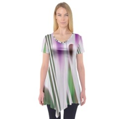 Colored Pattern Short Sleeve Tunic